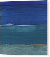 Soft Crashing Waves- Abstract Landscape Wood Print by Linda Woods
