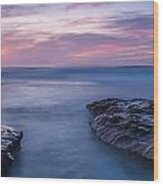 Soft Waters Wood Print by Peter Tellone