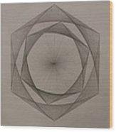 Solar Spiraling Wood Print by Jason Padgett