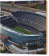 Soldier Field Chicago Sports 06 Wood Print by Thomas Woolworth