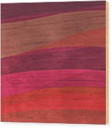 Southwestern Sunset Abstract Wood Print by Bonnie Bruno