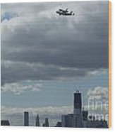 Space Shuttle Enterprise Flys Over Nyc Wood Print by Steven Spak