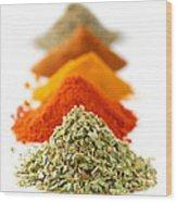 Spices Wood Print by Elena Elisseeva