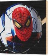 Spiderman Wood Print by Bruce Iorio