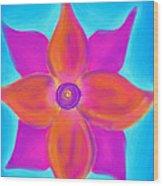 Spiral Flower Wood Print by Daina White