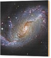 Spiral Galaxy Ngc 1672 Wood Print by The  Vault - Jennifer Rondinelli Reilly