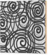 Spirals Of Love Wood Print by Daina White