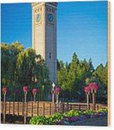 Spokane Clocktower Wood Print by Inge Johnsson
