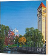 Spokane Fall Colors Wood Print by Inge Johnsson