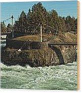 Spokane Falls - Spokane Washington Wood Print by Beve Brown-Clark Photography