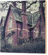 Spooky House Wood Print by Joana Kruse