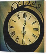 Spotlight On Time Wood Print by Mike Flynn