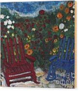 Spring Memories Wood Print by Louise Burkhardt