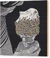 Sprinkles Wood Print by Barbara Hayden