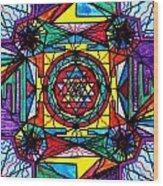Sri Yantra Wood Print by Teal Eye  Print Store