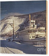 S.s. Keno Sternwheel Paddle Steamer Wood Print by Priska Wettstein