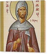 St Anastasios The Persian Wood Print by Julia Bridget Hayes