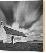 St Cwyfan's Church Wood Print by Dave Bowman