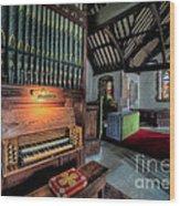 St Digains Church Wood Print by Adrian Evans
