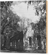 St Helena Chapel Of Ease Bw 2 Wood Print by Steven  Taylor