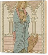 St John The Evangelist Wood Print by English School