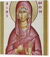 St Margarita Wood Print by Julia Bridget Hayes