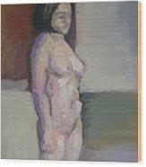 Standing Figure Wood Print by Cynthia Harvey
