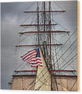 Star Of India Stars And Stripes Wood Print by Peter Tellone