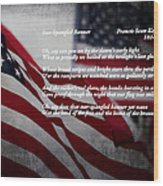 Star Spangled Banner  Wood Print by Ella Kaye Dickey