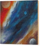 Star System 2034 Wood Print by James Christopher Hill