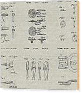 Star Trek Patent Collection Wood Print by PatentsAsArt
