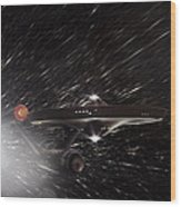Star Trek - The Original Enterprise  Wood Print by Jason Politte