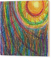 Starburst - The Nebular Dawning Of A New Myth And A New Age Wood Print by Daina White