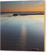 Starfish Sunset Wood Print by Mike  Dawson