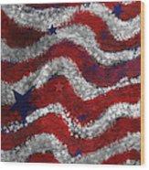 Starry Stripes Wood Print by Carol Jacobs