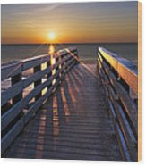 Stars On The Boardwalk Wood Print by Debra and Dave Vanderlaan