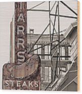 Stars Steaks Frys And Burgers Wood Print by JC Findley