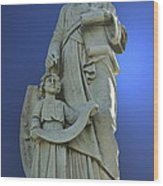 Statue 05 Wood Print by Thomas Woolworth