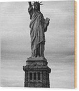 Statue Of Liberty National Monument Liberty Island New York City Usa Nyc Wood Print by Joe Fox