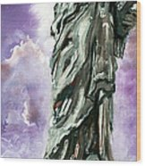 Statue Of Liberty Part 3 Wood Print by Ginette Callaway