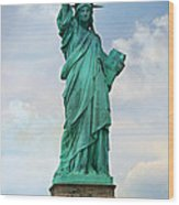 Statue Of Liberty Wood Print by Stephen Stookey
