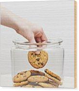 Stealing Cookies From The Cookie Jar Wood Print by Elena Elisseeva