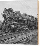 Steam Locomotive Crescent Limited C. 1927 Wood Print by Daniel Hagerman