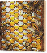 Steampunk - Apiary - The Hive Wood Print by Mike Savad