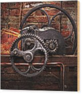 Steampunk - No 10 Wood Print by Mike Savad