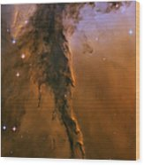 Stellar Spire In The Eagle Nebula Wood Print by Adam Romanowicz