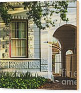 Stellenbosch Gate Wood Print by Rick Bragan