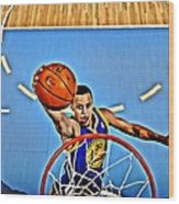 Steph Curry Wood Print by Florian Rodarte