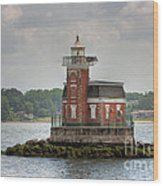 Stepping Stones Lighthouse I Wood Print by Clarence Holmes