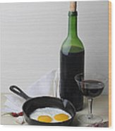 Still Life With Eggs Wood Print by Krasimir Tolev